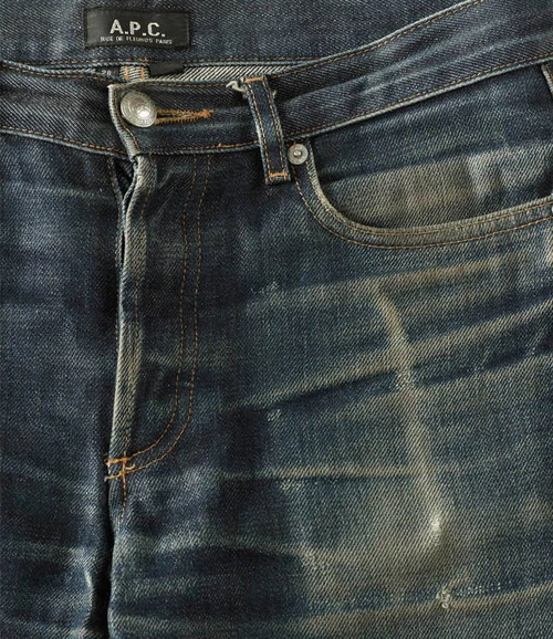 Butler Material Example, Pair 2, front pocket distressed