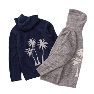 Cozychic Men's Palm Tree Hoodie
