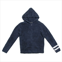 Men's zip hoodie with stripe C594