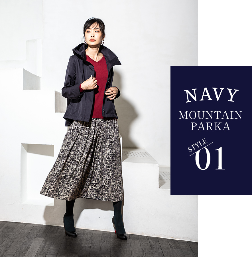 NAVY MOUNTAIN PARKA