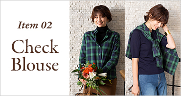 Item 02 Check Blouse