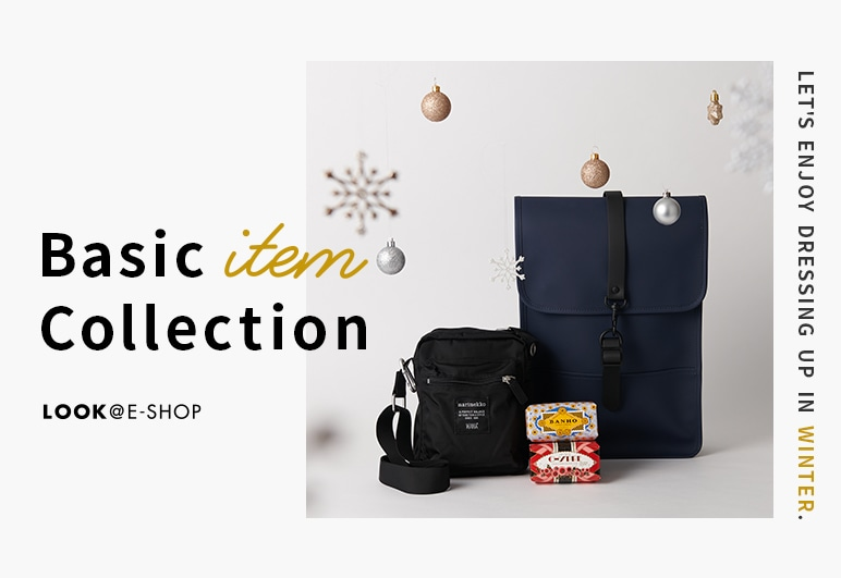 LOOK@E-SHOP Basic item Collection Let's enjoy dressing up in winter.