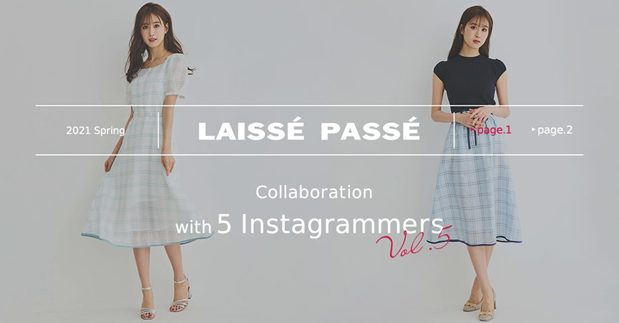 LAISSE PASSE Collaboration with 5 Instagrammers